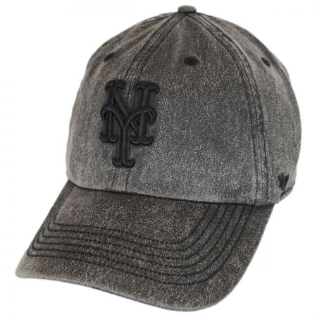 47 Brand New York Mets MLB Caliper Clean Up Strapback Baseball Cap Dad Hat