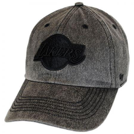 47 Brand Los Angeles Lakers NBA Caliper Clean Up Strapback Baseball Cap Dad Hat