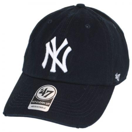 47 Brand New York Yankees MLB Ridge Clean Up Strapback Baseball Cap Dad Hat