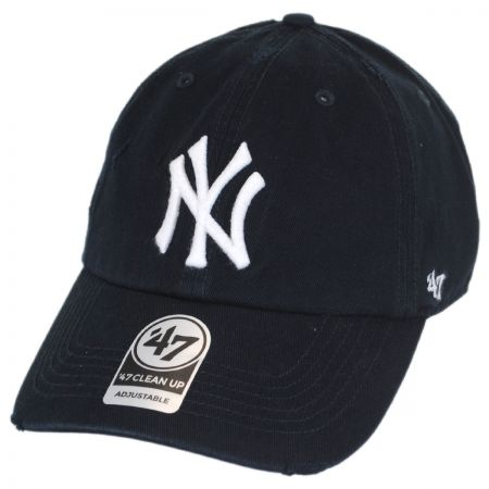 47 Brand New York Yankees MLB Ridge Clean Up Strapback Baseball Cap