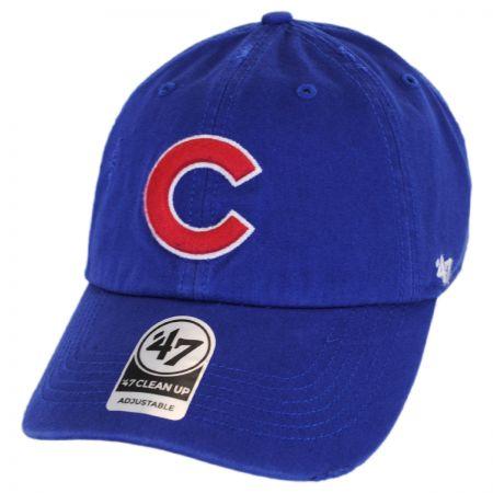 47 Brand Chicago Cubs MLB Ridge Clean Up Strapback Baseball Cap Dad Hat