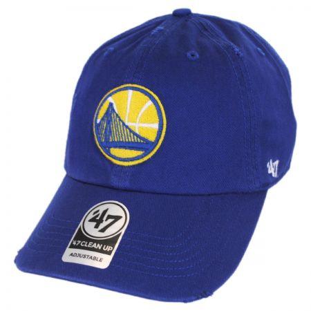 47 Brand Golden State Warriors NBA Ridge Clean Up Strapback Baseball Cap Dad Hat
