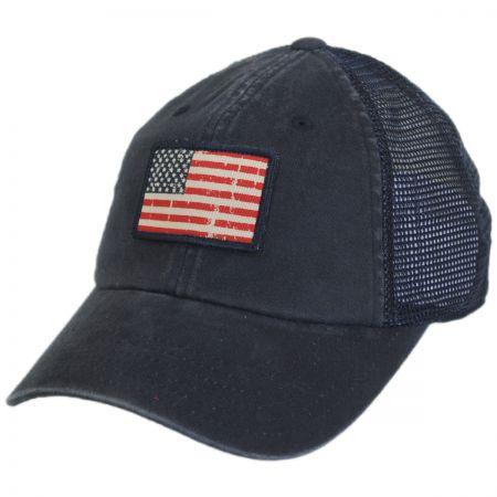 American Needle USA Flag Badger Trucker Snapback Baseball Cap