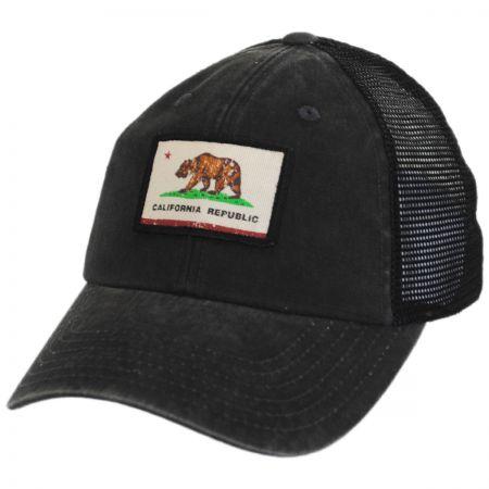 American Needle Cali Bear Flag Badger Trucker Snapback Baseball Cap