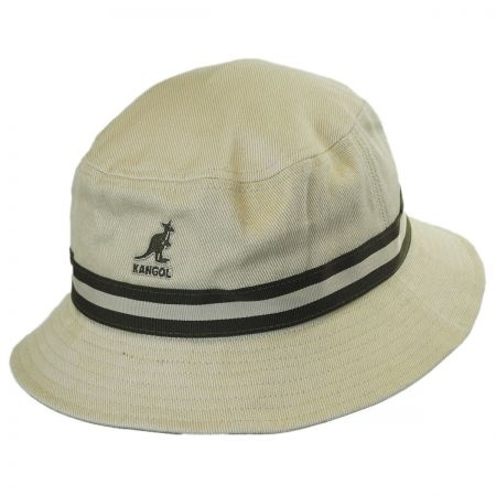 Kangol Stripe Lahinch Cotton Bucket Hat