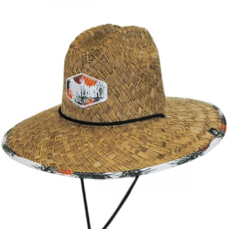 Hemlock Hat Co. Piña Coolada Straw Lifeguard Hat