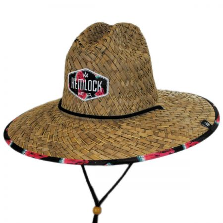 Hemlock Hat Co. Yellin' Melon Straw Lifeguard Hat
