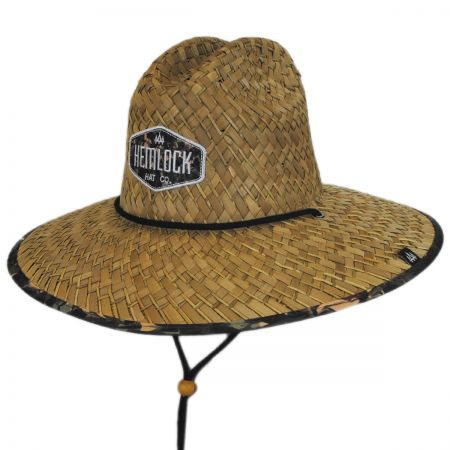 Hemlock Hat Co. Cosmic Camo Straw Lifeguard Hat