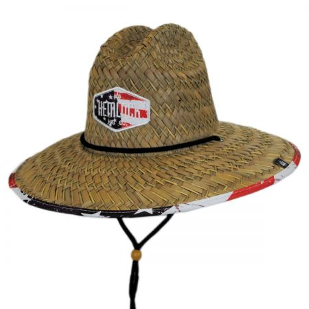 Hemlock Hat Co. Americana Straw Lifeguard Hat