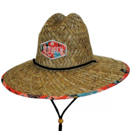 Hemlock Hat Co Tropicana Straw Lifeguard Hat