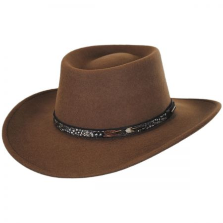 Kelso Crushable Wool Felt Gambler Western Hat alternate view 13