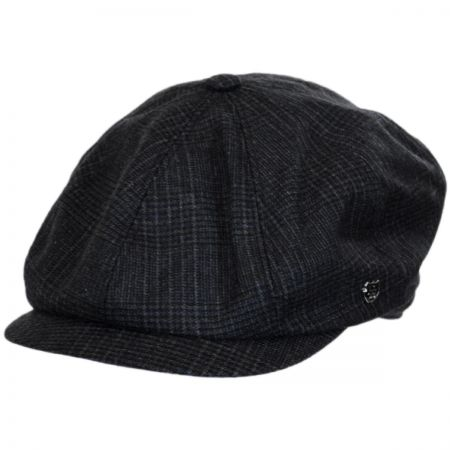 Windsor Check English Tweed Wool Newsboy Cap