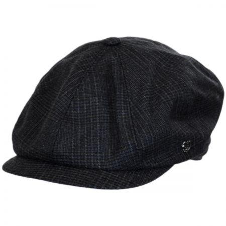 Windsor Check English Tweed Wool Newsboy Cap