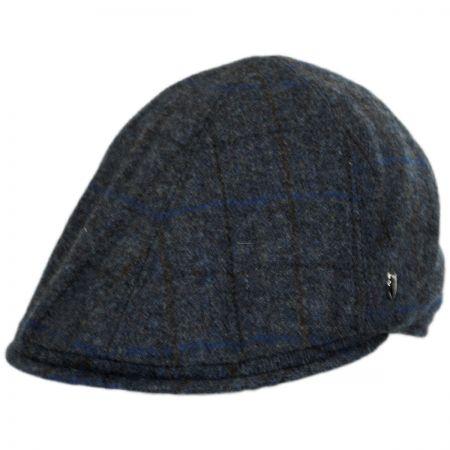 Hills Hats of New Zealand Plaid English Tweed Wool Duckbill Ivy Cap