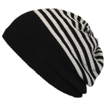 Striped Knit Cotton Beret alternate view 1