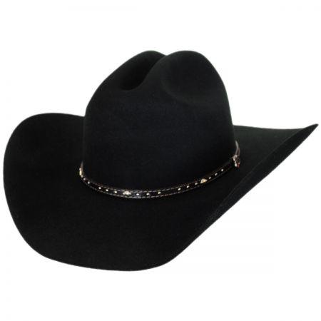 Justin Hats Black Hills 2X Wool Felt Cattleman Western Hat