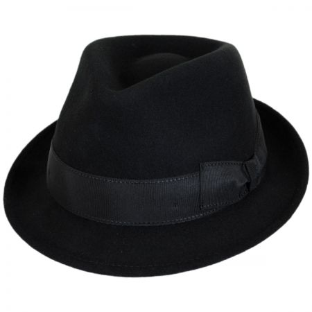 Stefeno Tear Drop Wool Felt Trilby Fedora Hat