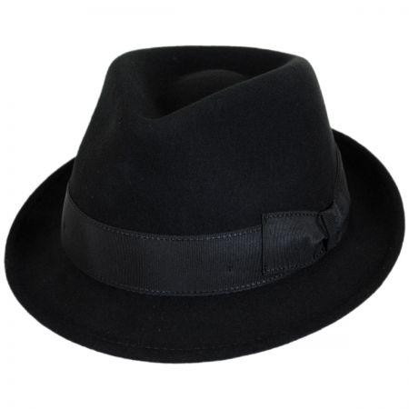 Tear Drop Wool Felt Trilby Fedora Hat alternate view 9