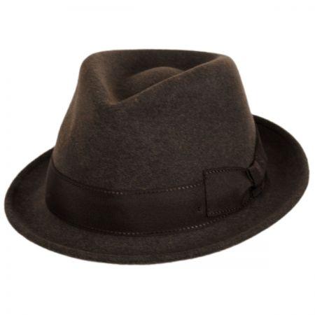 Stefeno Tear Drop Wool Felt Trilby Fedora Hat