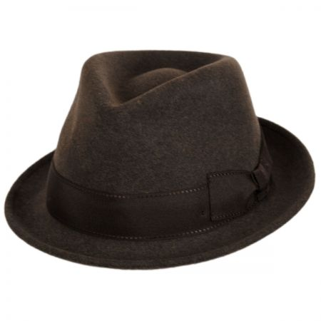 Tear Drop Wool Felt Trilby Fedora Hat alternate view 13