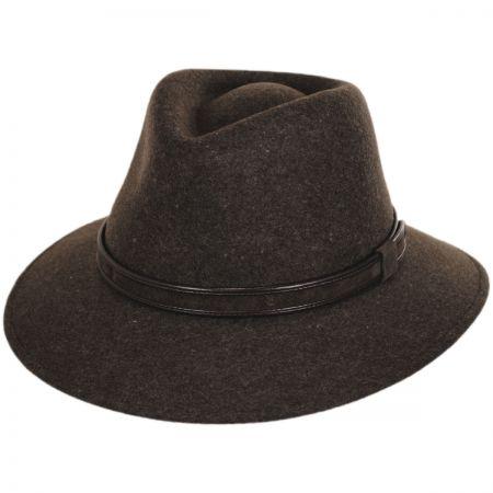 Hiker Wool Felt Safari Fedora Hat alternate view 17