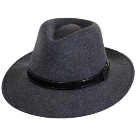 Hiker Wool Felt Safari Fedora Hat alternate view 9