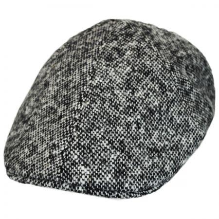 Stefeno Clem Tweed Wool Duckbill Ivy Cap