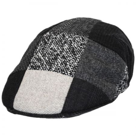 Stefeno Patchwork Wool Ascot Cap