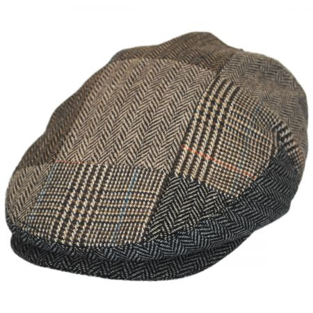 Jaxon Hats Herringbone Patchwork Wool Blend Ivy Cap