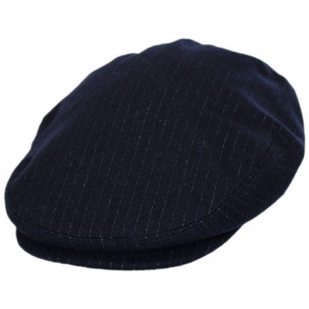 Baskerville Hat Company Pinstripe Wool Ivy Cap
