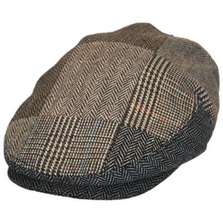 B2B Jaxon Herringbone Patchwork Wool Blend Ivy Cap