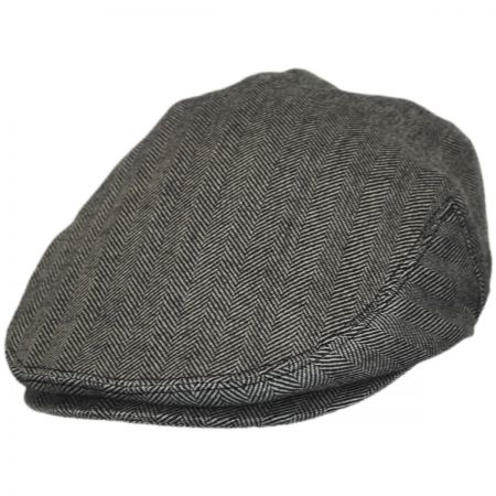 B2B Jaxon Herringbone Pure Wool Ivy Cap