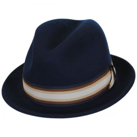 583ddaa698dd4 Navy Blue Fedora Hats at Village Hat Shop