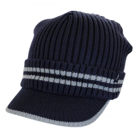 Kangol Ribbed Visor Knit Beanie Hat