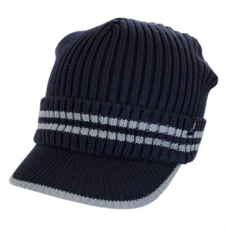 Kangol Ribbed Visor Knit Beanie Hat