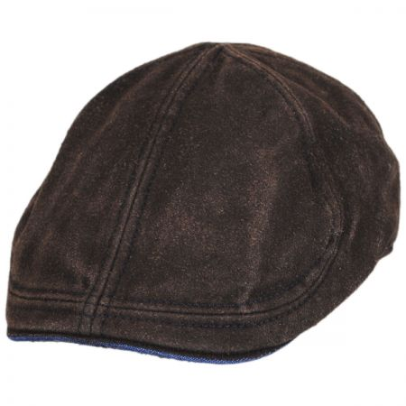 Washed Cotton and Suede Pub Duckbill Ivy Cap alternate view 1