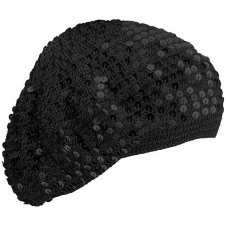 Betmar Sequin Hand Crochet Beret