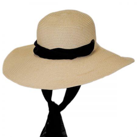 Eugenia Kim Genie Cecily Black Scarf Straw Sun Hat