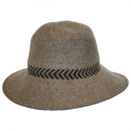Chevron Knit Wool Swinger Hat