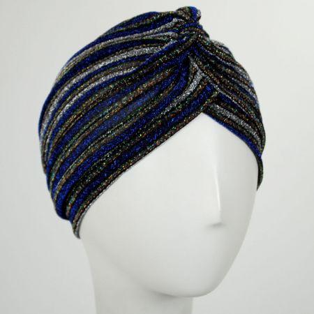 Jeanne Simmons Metallic Stripe Turban