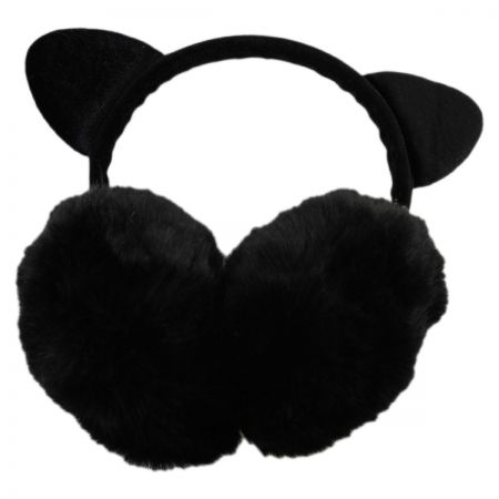 Cat Velvet and Faux Fur Earmuffs