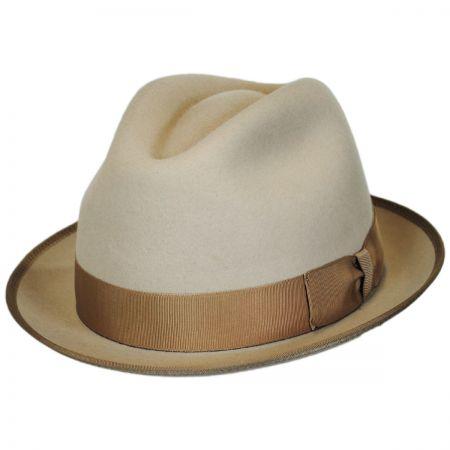 Stefeno Alex Fur Felt Stingy Brim Fedora Hat