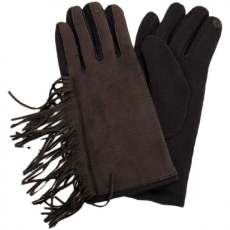 Jeanne Simmons Fringe Faux Suede Texting Gloves