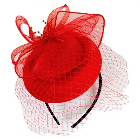 Netting Veil Felt Fascinator Headband alternate view 4