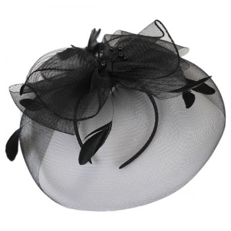 Jeanne Simmons Bow and Feather Fascinator Headband