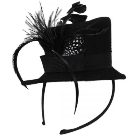 Wool Felt Mini Top Hat Fascinator Headband alternate view 1
