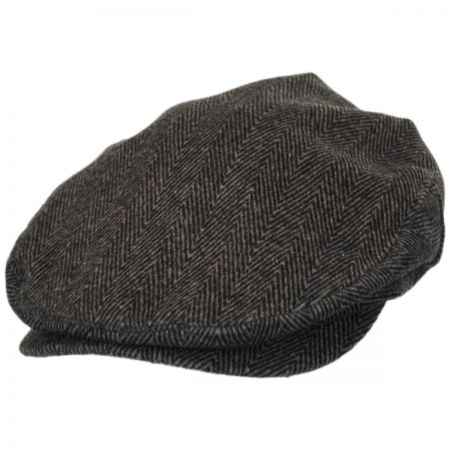Brixton Hats Barrel Herringbone Tweed Wool Blend Ivy Cap