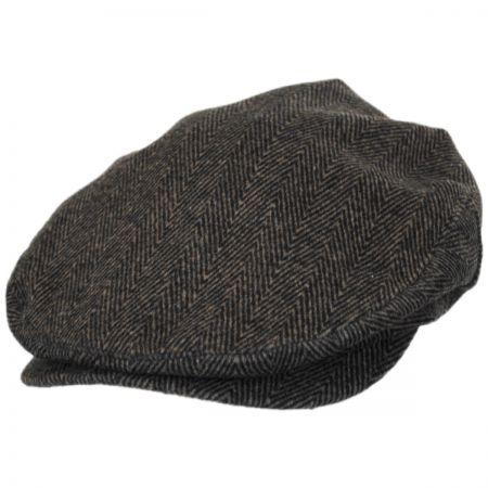 Brixton Hats Barrel Herringbone Tweed Wool Blend Ivy Cap