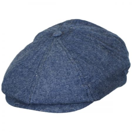 Brixton Hats Brood Chambray Cotton Newsboy Cap