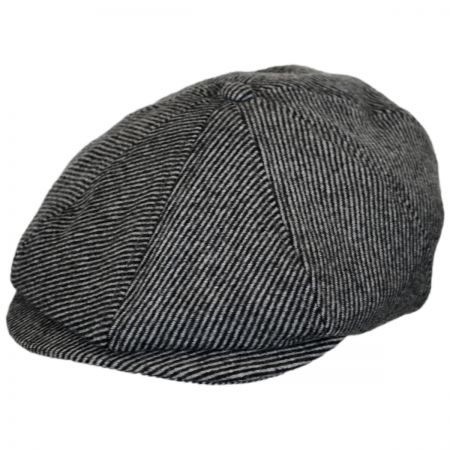 Brixton Hats Brood Striped Wool Blend Newsboy Cap